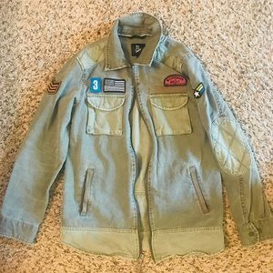 Army Green Jacket (size medium) like new